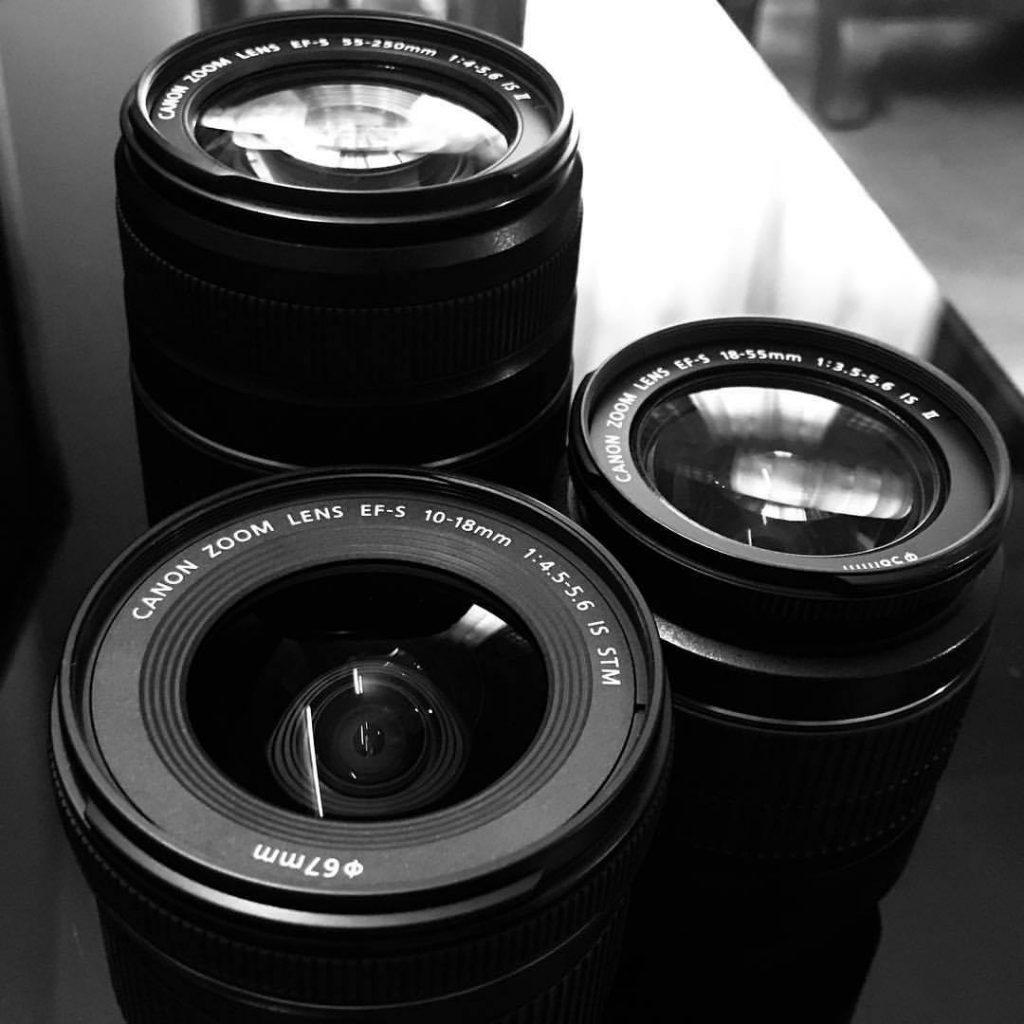 Three types of zoom lenses.