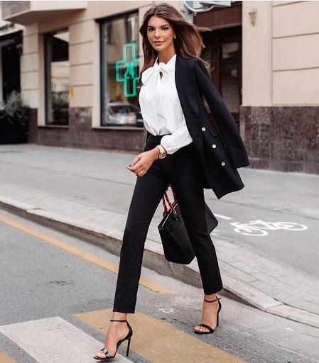 office black suit black trousers