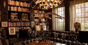 Gothic home decor- library