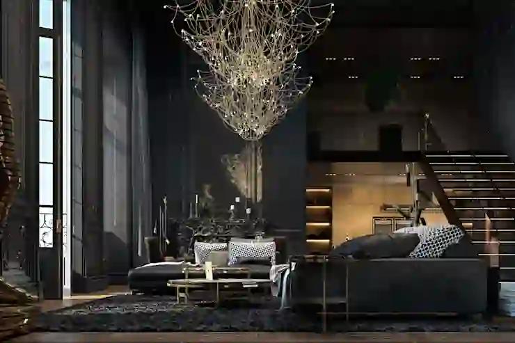 modern gothic furnishing gothic decor black stylish