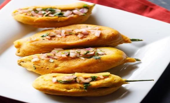 MIRPAKAYA BAJJI, Andhrapradesh and Telangana street food