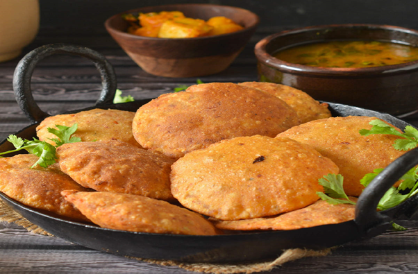 BEDHAI (BEDMI PURI), Uttar Pradesh, street food