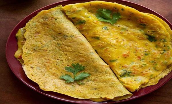 BESAN CHILLA, North India, street food